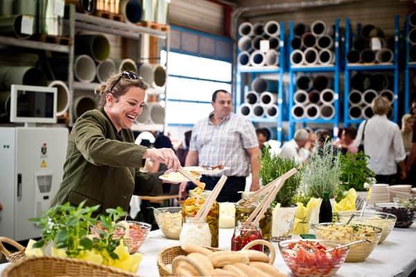 Catering für Firmenfeiern, Firma Huber