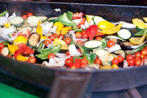 Vegetarisches Catering bzw. unser mediterranes Grillgemüse
